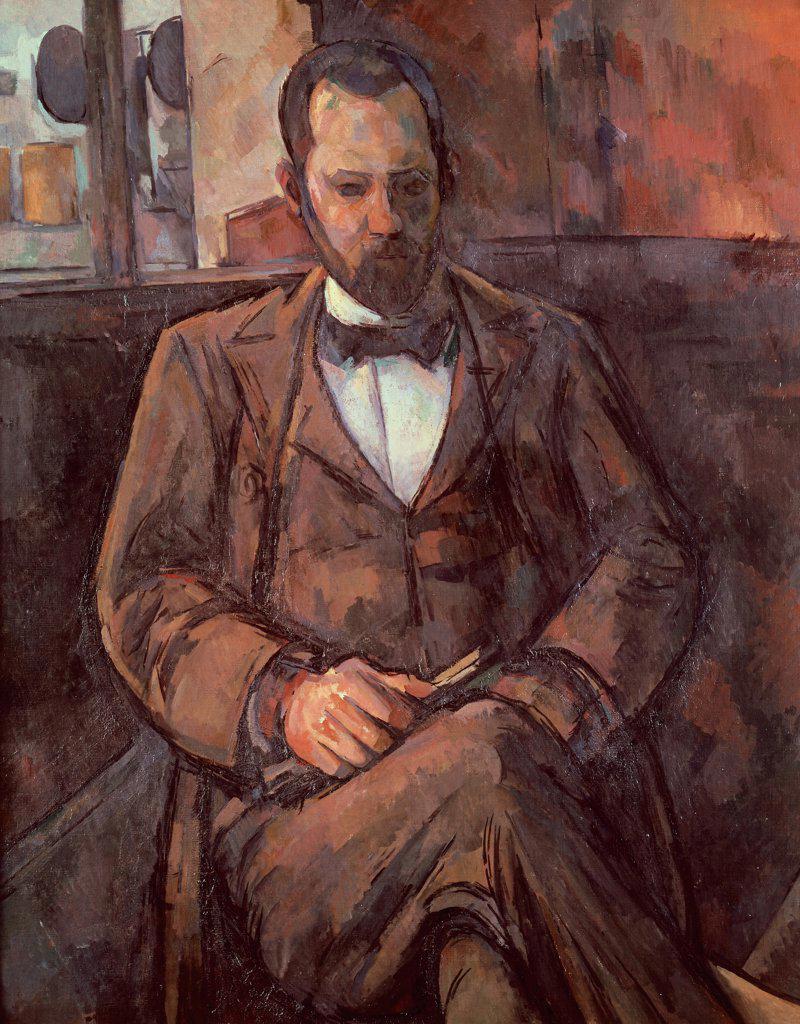 Stock Photo: 1788-44205 Portrait of Ambroise Vollard, 1899, by Paul Cezanne (1839-1906), oil on canvas, 100x81 cm.