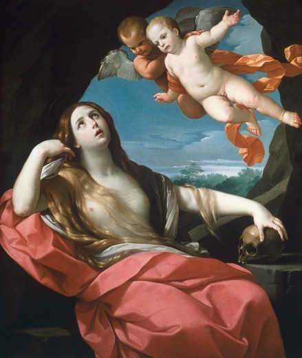Magdalene, 1626-1627, by Guido Reni (1575-1642). : Stock Photo