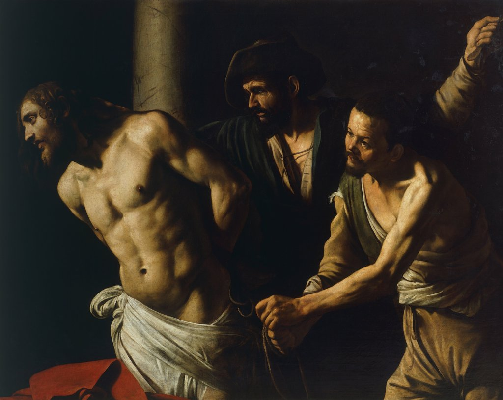 Stock Photo: 1788-44263 Christ at the Column (The Flagellation of Christ), 1598, by Michelangelo Merisi, known as Caravaggio Caravaggio (1571-1610), oil on canvas, 106x140 cm.