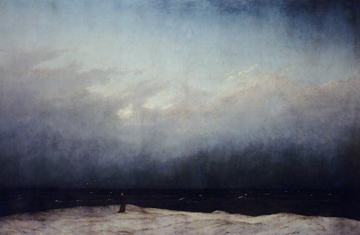 Stock Photo: 1788-44335 Monk by the Sea, 1808-1809, by Caspar David Friedrich (1774-1840), oil on canvas, 110x171 cm.