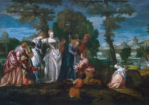 Stock Photo: 1788-44454 Moses Saved from the Waters, by Paolo Caliari known as Veronese (1528-1588), oil on canvas.