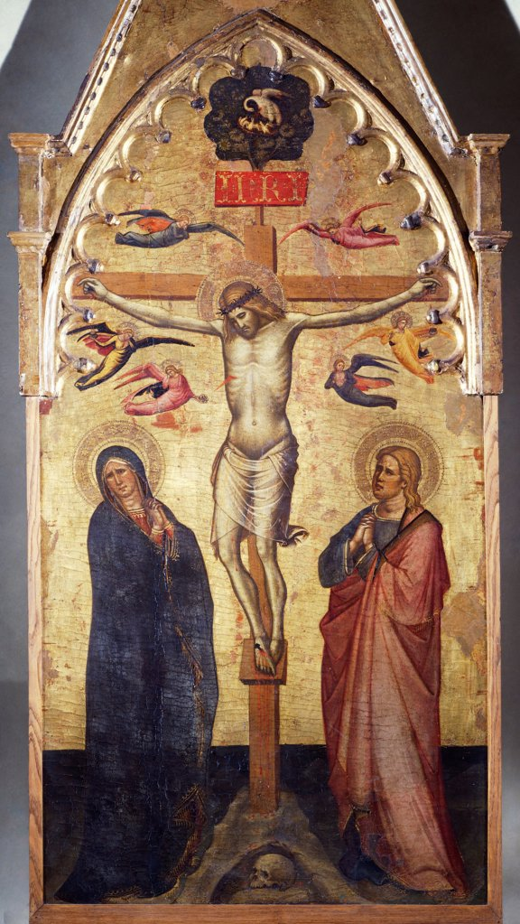 Stock Photo: 1788-44486 Crucifixion, 14th century, by an unknown artist of the Tuscan School.
