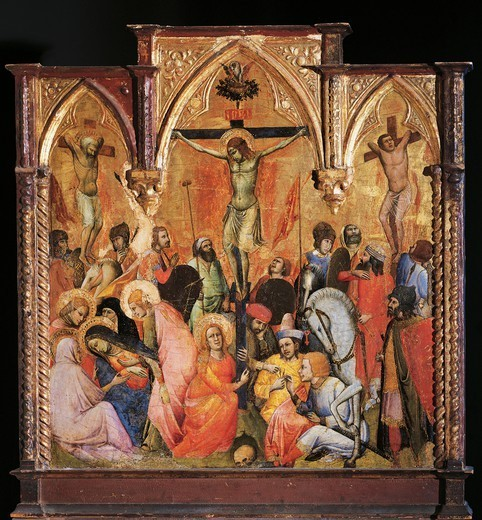 Stock Photo: 1788-44487 Crucifixion, 14th century, by Antonio Veneziano (active 1369-1419).