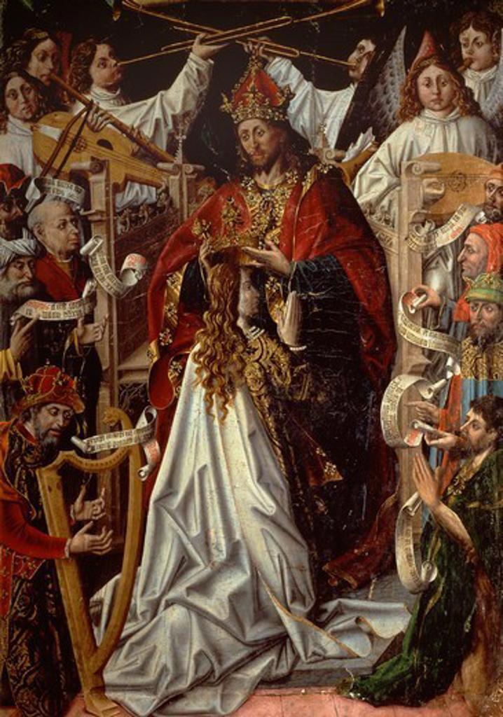 Stock Photo: 1788-44578 Coronation of the Virgin, by Fernando Gallego (active 1468-1507).