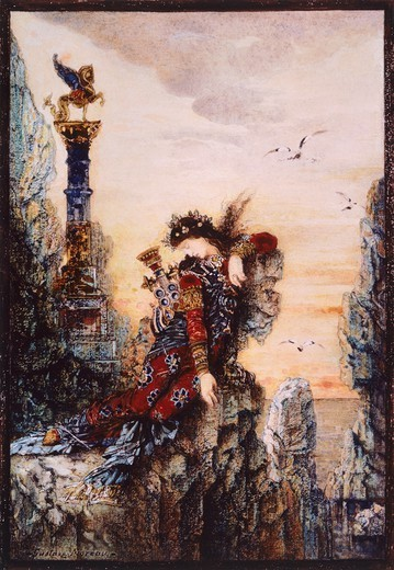 Stock Photo: 1788-44584 Sapphire, by Gustave Moreau (1826-1898), oil on canvas.