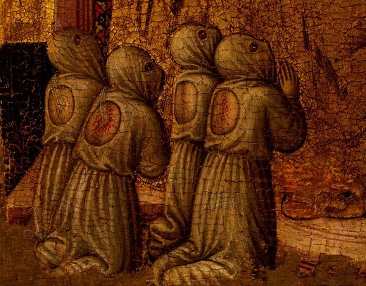 Stock Photo: 1788-44665 Flagellants, detail from Sant'Eleuterio, 1483, by the Master of Staffolo (active 15th century), tempera on panel, 55x37 cm.