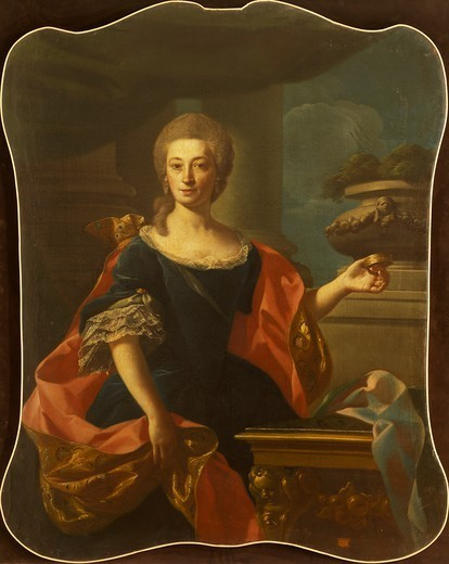 Stock Photo: 1788-44669 Portrait of a lady, by Francesco Narici (ca 1719- 1785).
