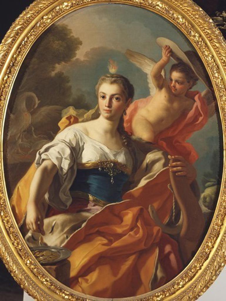 Allegory of Generosity, by Francesco de Mura (1696-1782), oil on canvas. : Stock Photo