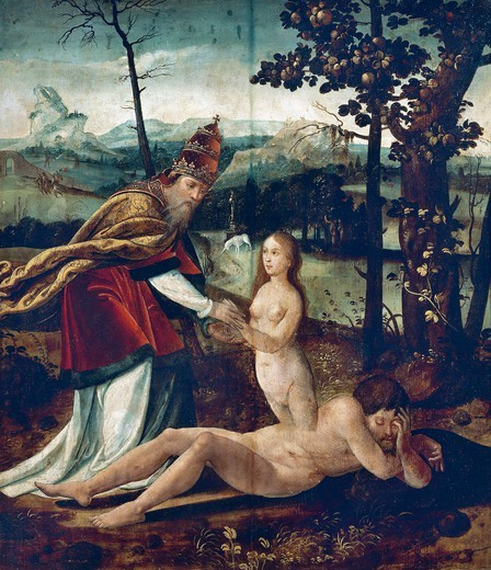 The creation of Eve, ca 1530, by an unknown Flemish artist artist. : Stock Photo