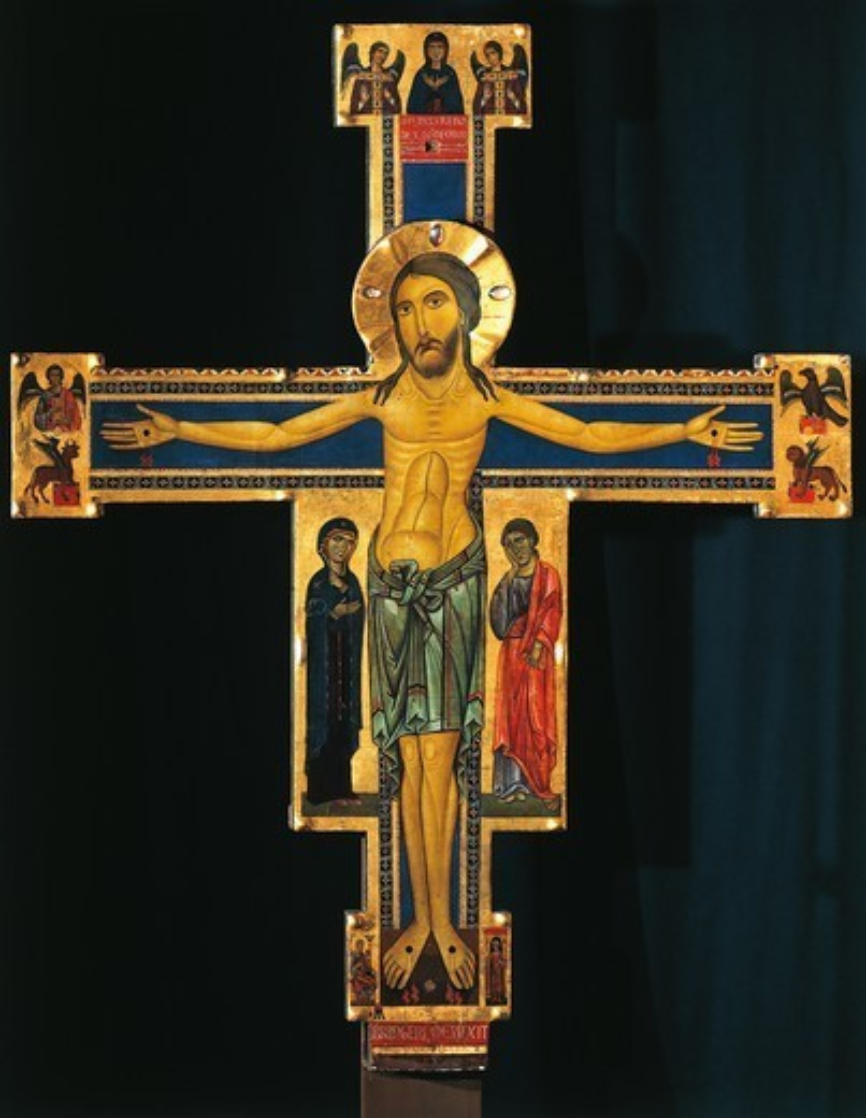 Crucifix, by Berlinghiero Berlinghieri, 13th Century. : Stock Photo