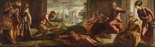 Stock Photo: 1788-44990 Muzio Scaevola, by Jacopo Robusti known as Tintoretto (1518-1594).