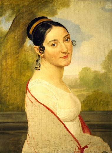 Portrait of Teresa Tambroni Cuty, ca 1815, by Pelagio Palagi (1775-1860), oil on canvas, 68x51 cm. : Stock Photo