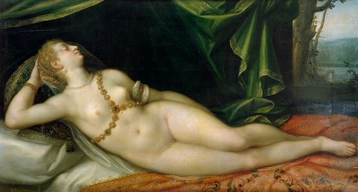 Stock Photo: 1788-45066 Venus sleeping, by Joseph Heintz the Elder (1564-1609).