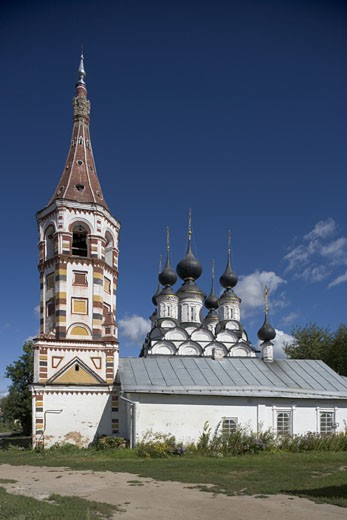 Stock Photo: 1788-4510 Russia, Suzdal, Winter church of St. Antipius and, in the background, summer church of St. Lazarus