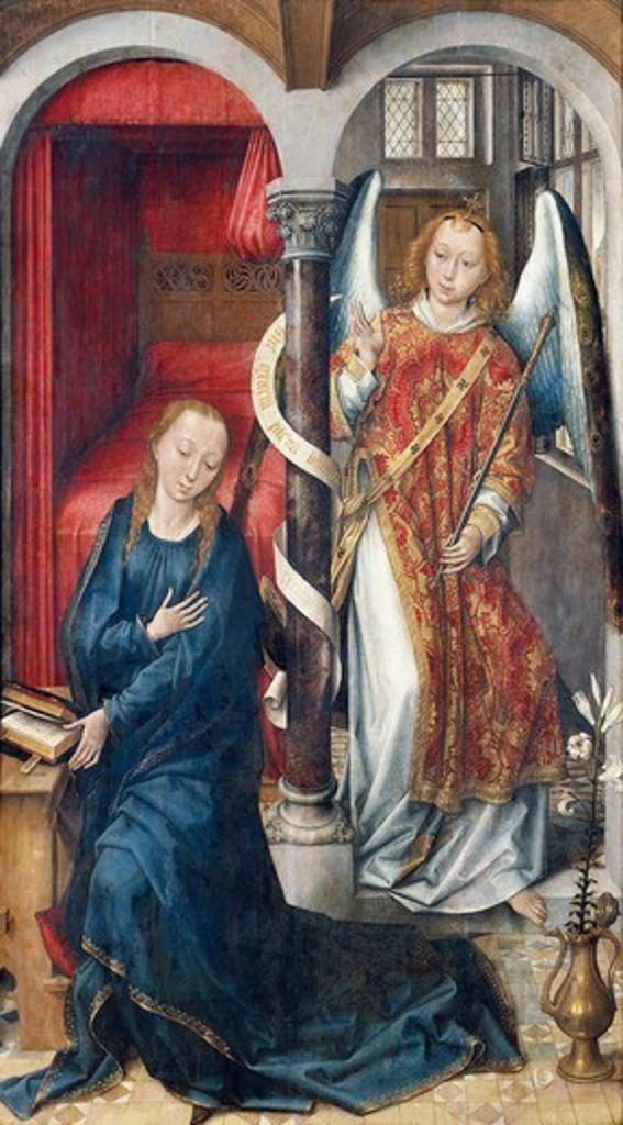 Stock Photo: 1788-45163 Annunciation, by Vrancke van der Stockt (pre-1420-ca 1495).