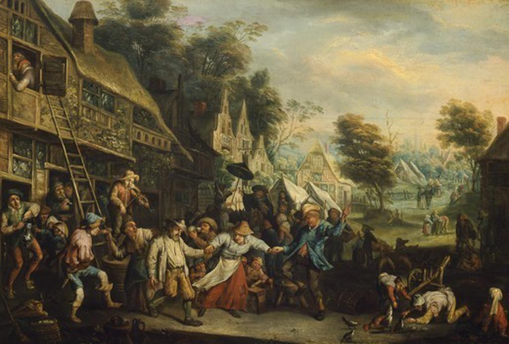 Stock Photo: 1788-45165 Fair in Flanders, by Cornelis Dusart (1660-1704).