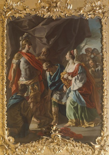 Stock Photo: 1788-45209 Stories of Alexander, by Francesco De Mura (1696-1782).