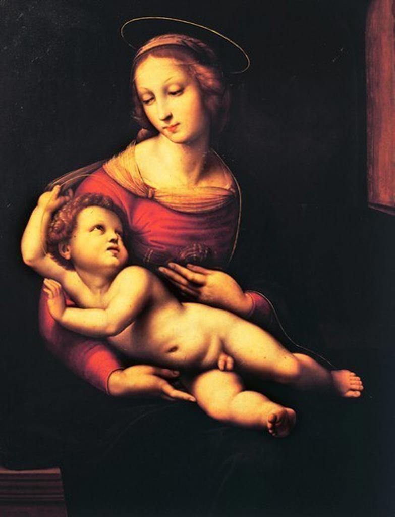 Bridgewater Madonna (Madonna and Child), by Raphael Sanzio (1483-1520), oil on canvas, 81x56 cm : Stock Photo