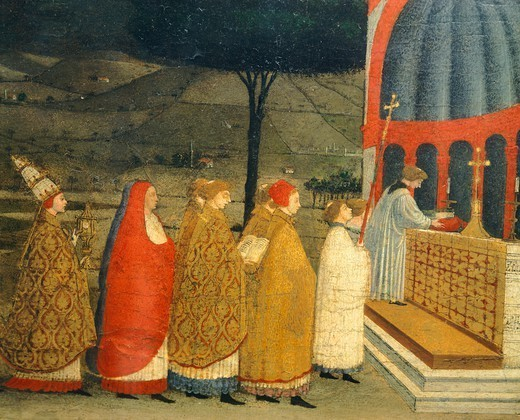 Stock Photo: 1788-45262 Predella of the Miracle of the Profaned Host, by Paolo Uccello (1397-1475). Detail.