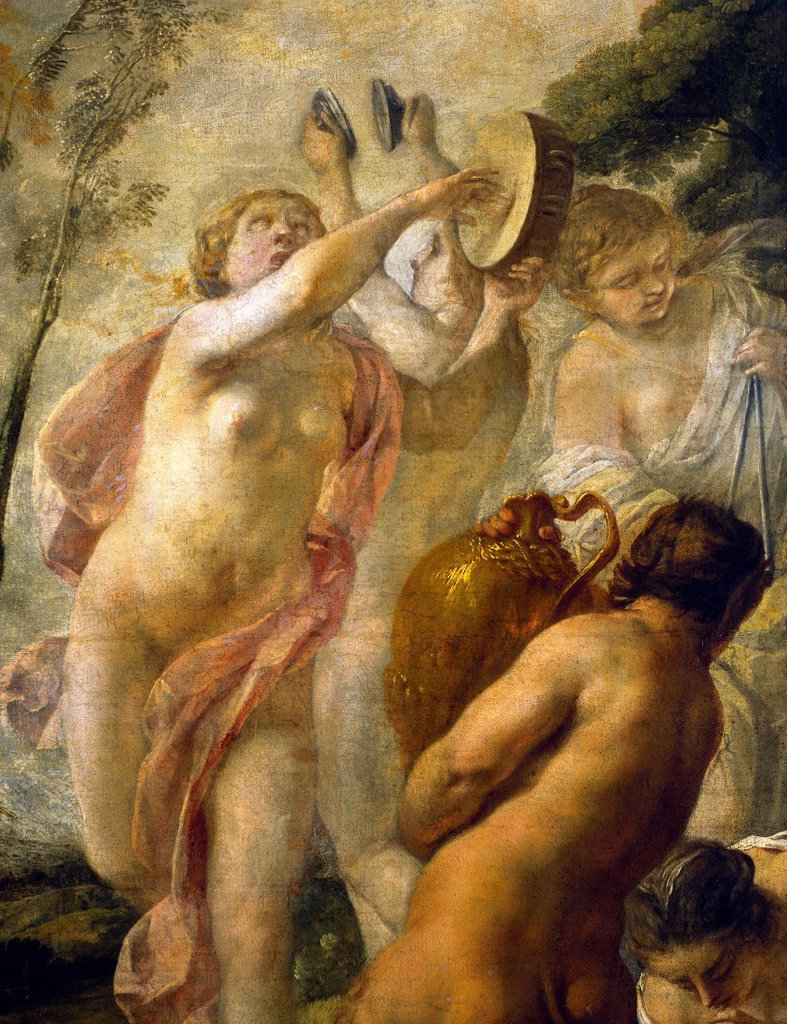Bacchanalia, 1636, by Jacques Blanchard (1600-1638), oil on canvas, 138x115 cm. Detail. : Stock Photo