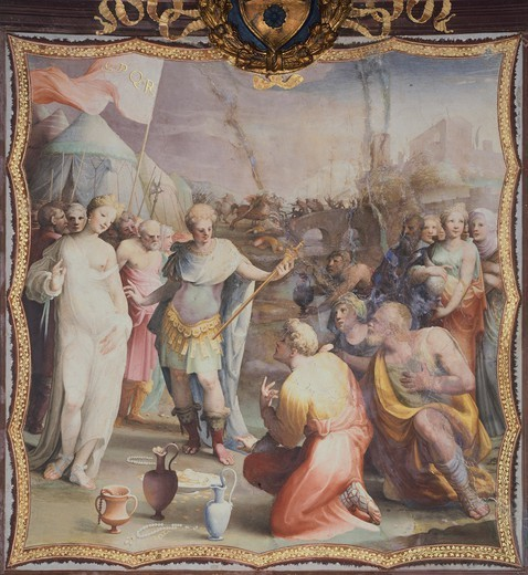 The Continence of Scipio, Domenico Beccafumi (1486-1551). : Stock Photo