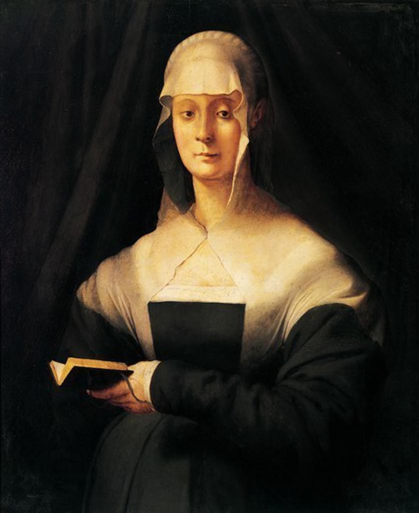 Portrait of Maria Salviati, by Jacopo da Pontormo (1494-1557). : Stock Photo