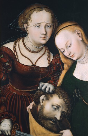 Stock Photo: 1788-45394 Judith with the Head of Holofernes, 1531, by Lucas Cranach the Elder (1472-1553).