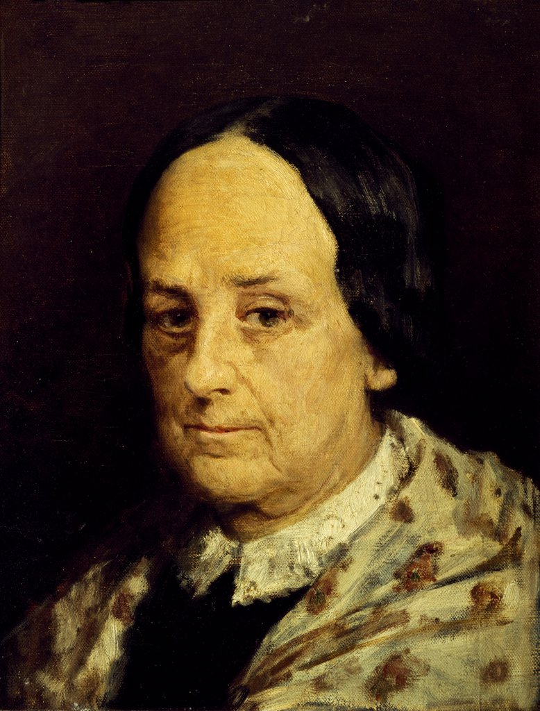 Stock Photo: 1788-45470 Portrait of Luisa Ruggeri, by Domenico Morelli (1823-1901).