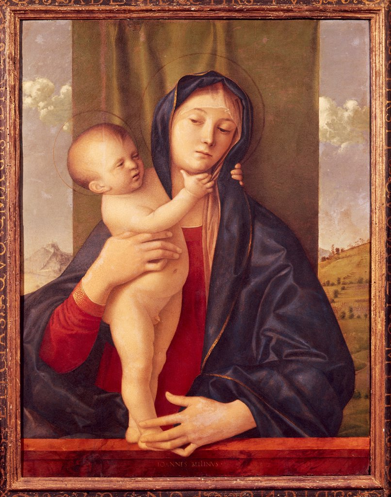 Madonna and Child (Willys Madonna), 1480-1490, by Giovanni Bellini (1431-36 - 1516), oil on panel, 75x59 cm. : Stock Photo