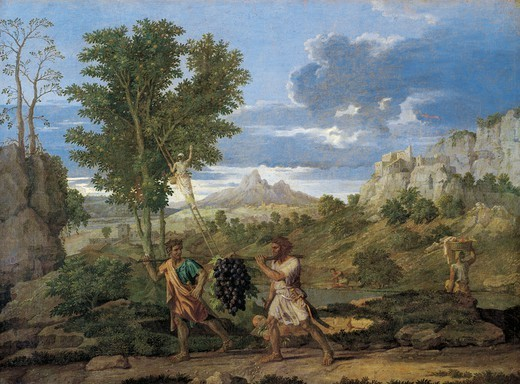Stock Photo: 1788-45573 The seasons, autumn or the Promised Land, by Nicolas Poussin (1594-1655).