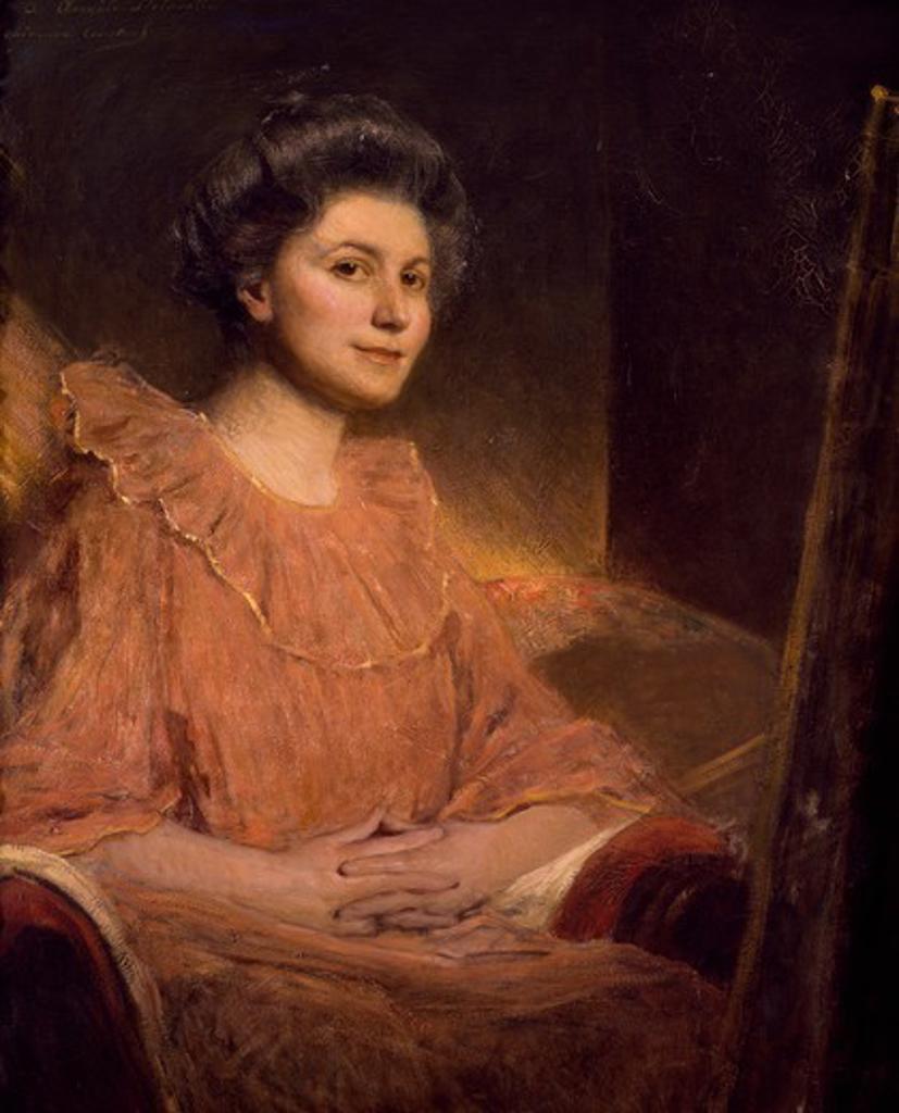 Portrait of Angele Delasalle, by Jean Joseph Benjamin Constant (1845-1902). : Stock Photo