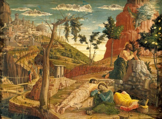 Stock Photo: 1788-45610 Agony in the Garden, 1457-1459, by Andrea Mantegna (1431-1506). Tempera on wood, 71x94 cm.