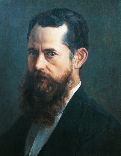 Stock Photo: 1788-45636 Self-portrait, 1894, by Jose Maria Velasco (1840-1912), oil on canvas, 56x42 cm.
