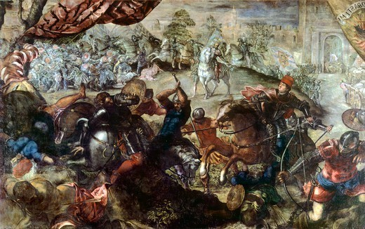 Stock Photo: 1788-45734 The Battle of Legnano, by Jacopo Robusti known as Tintoretto (1518-1594).