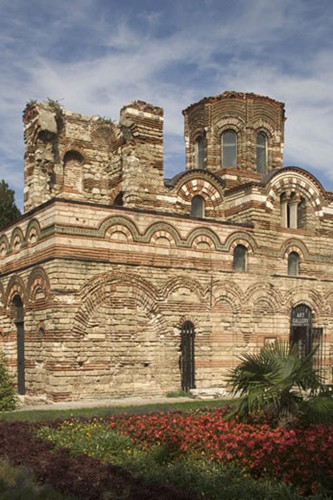 Stock Photo: 1788-4576 Bulgaria, Nesebar, church of Christ Pantocrator, central part