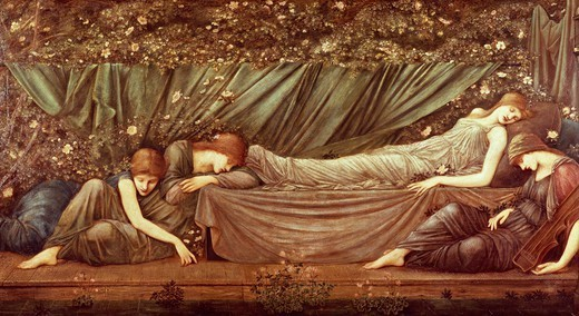 Stock Photo: 1788-45766 Sleeping Beauty, by Edward Burne-Jones (1833-1898).