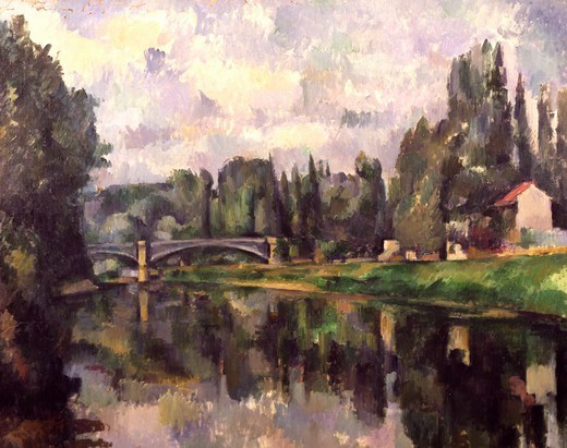 Stock Photo: 1788-45788 Banks of the Marne, ca 1888, by Paul Cezanne (1839-1906).