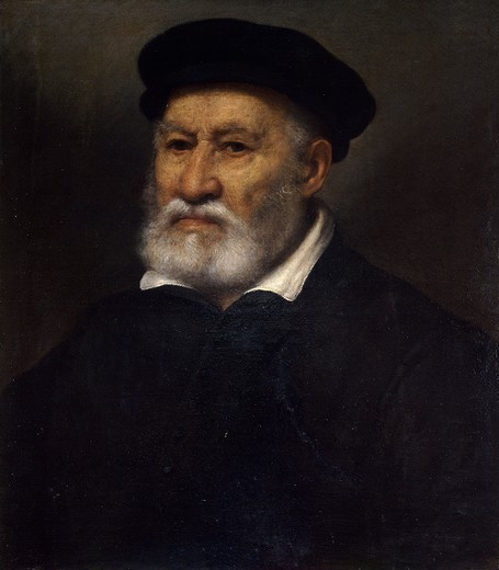 Stock Photo: 1788-46000 Portrait of Giovan Pietro Maffeis, 1570-1575, by Giovanni Battista Moroni (ca 1525-1578), oil on canvas, 48x56 cm.