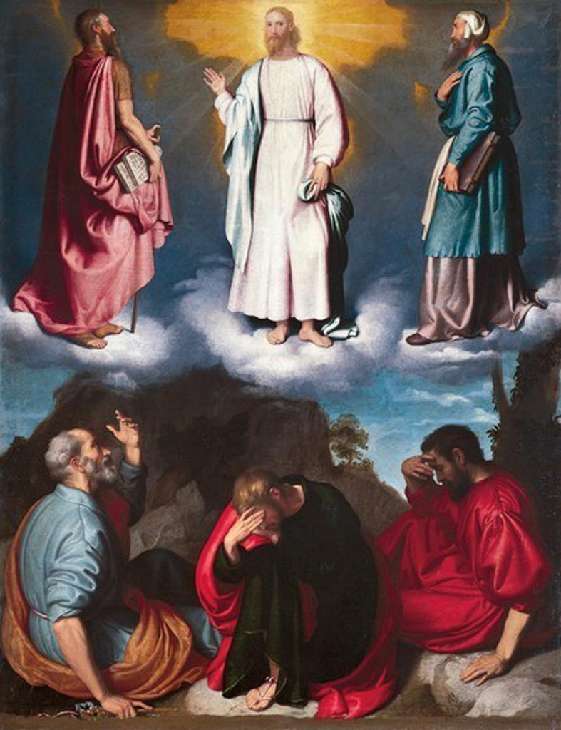 Stock Photo: 1788-46002 Transfiguration by Giovanni Battista Moroni (ca 1525- 1578).