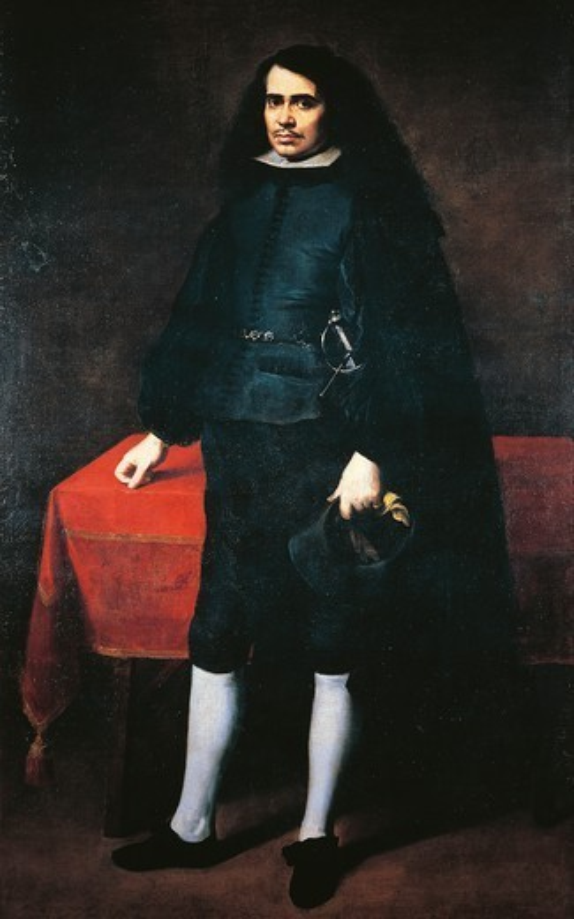 Stock Photo: 1788-46394 Caballero de Golilla, 1670, by Bartolome Esteban Murillo (1618-1682), oil on canvas.