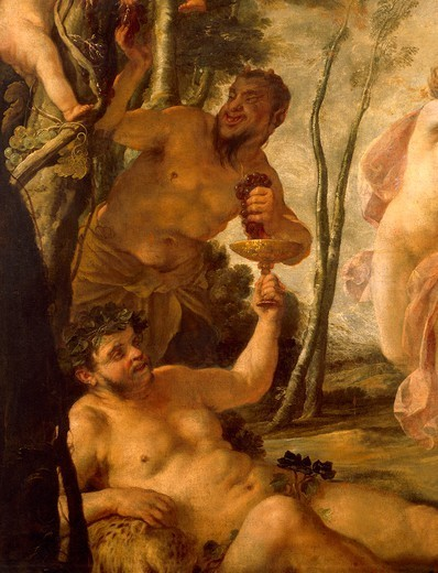 Bacchanal, ca 1636, by Jacques Blanchard (1600-1638). Detail. : Stock Photo