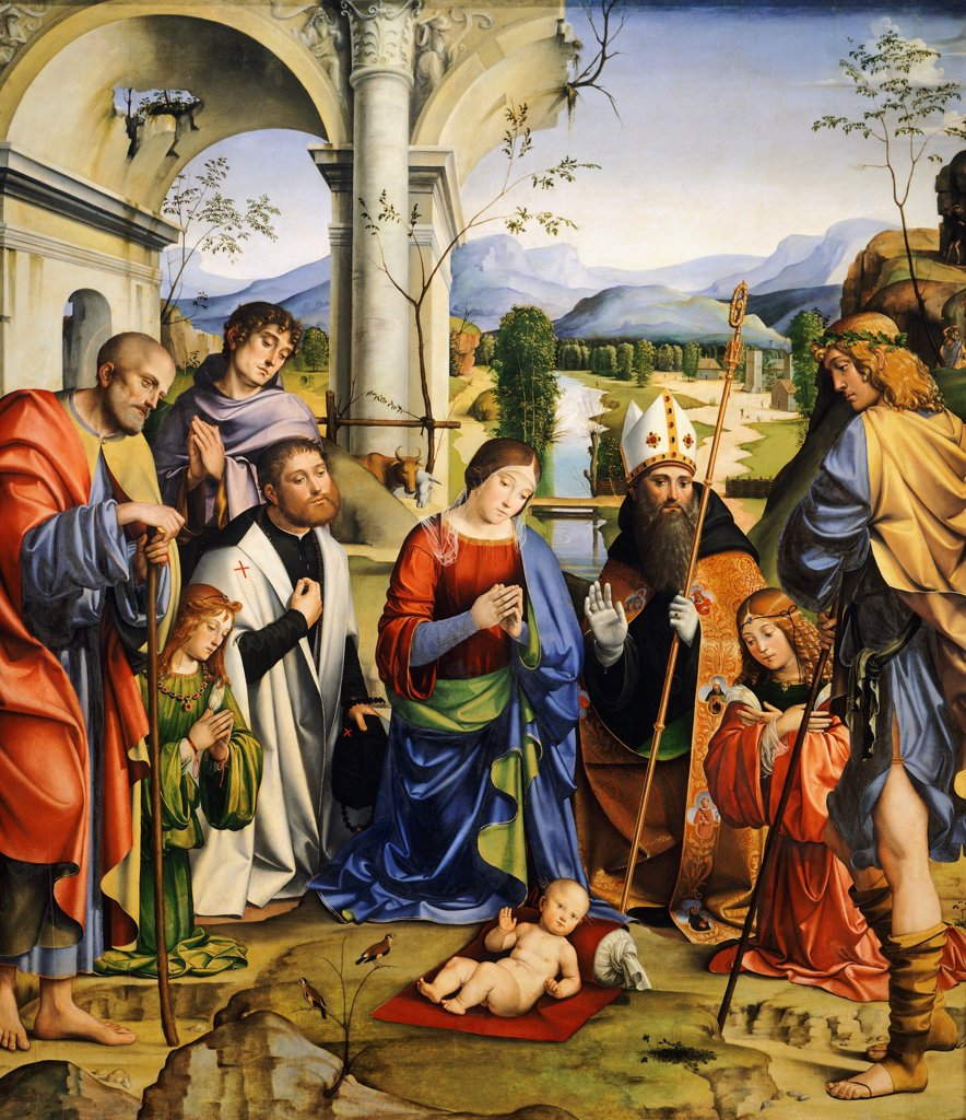 Stock Photo: 1788-46651 Bentivoglio Altarpiece, 1499, by Francesco Francia (1450-1517).