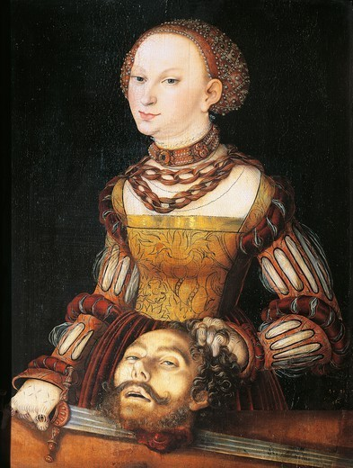 Stock Photo: 1788-46672 Judith with the Head of Holofernes, 1531, by Lucas Cranach the Elder (1472-1553).