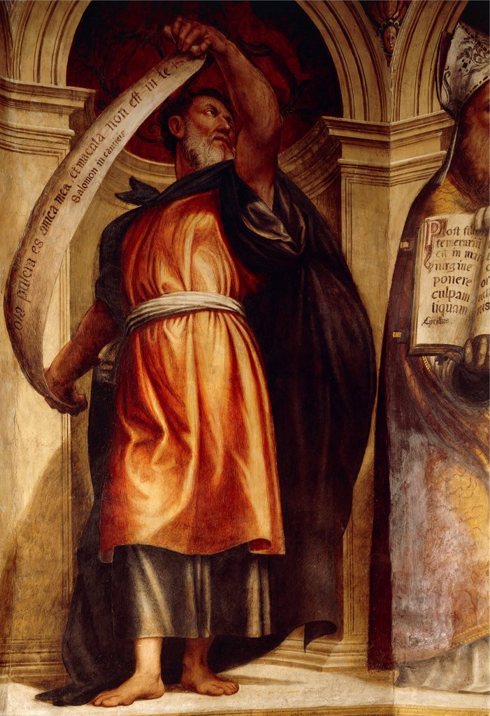 Stock Photo: 1788-46708 Solomon, by Giovanni Antonio da Pordenone (1483 or 1484-1539). Church of the Annunciation, St Anne's Chapel, Cortemaggiore, Italy.