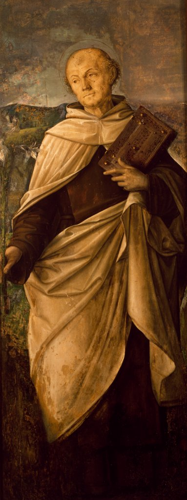 Stock Photo: 1788-46713 St Adalbert, detail from a triptych, 1490-1499, by Niccolo Rondinelli (ca 1450-1510), panel, 180x63 cm.