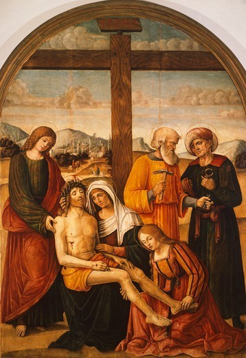 Stock Photo: 1788-46714 The deposition, by Baldassarre Carrari (ca 1460-1519).