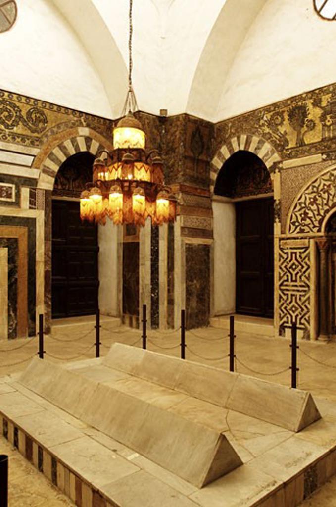 Stock Photo: 1788-4675 Syria - Damascus. Ancient city. UNESCO World Heritage List, 1979. Mamluk Sultan Baybars Memorial, 13th century. Interior