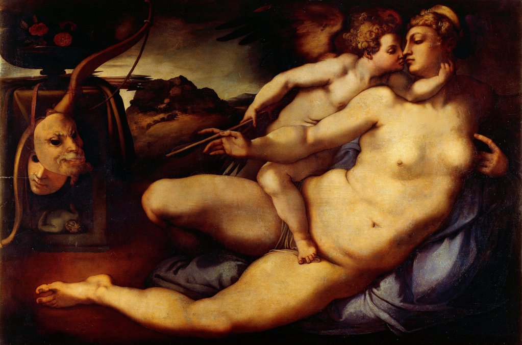 Stock Photo: 1788-46751 Venus and Cupid, by Jacopo da Pontormo (1494-1557).