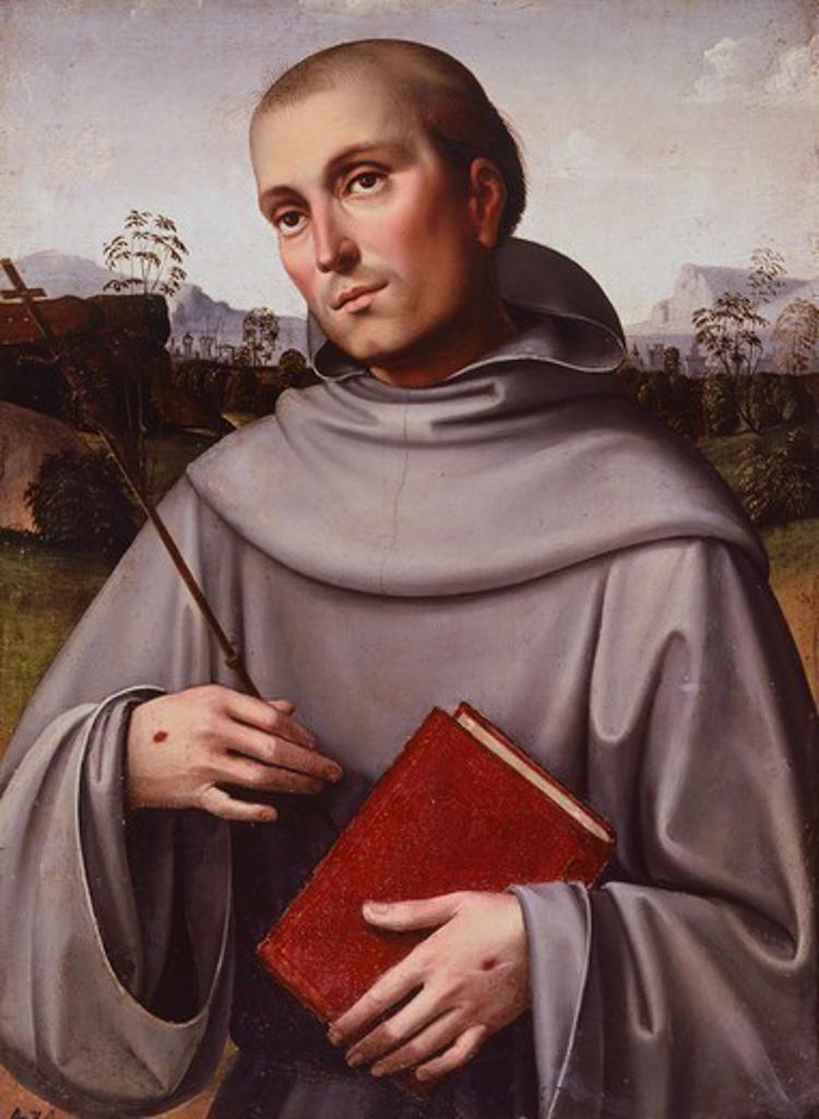 Stock Photo: 1788-46771 St Francisco, ca 1500, by Francesco Francia (ca 1450-1517), panel, 55x45 cm.