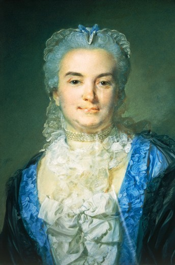 Stock Photo: 1788-46790 Portrait of Madame Anne Catherine Chevotet, ca 1750, by Jean-Baptiste Perronneau (1715-ca 1783).